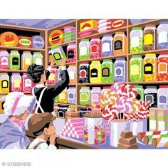 Pintura con números - El paraíso de los caramelos - 30 x 40 cm - Fotografía n°1