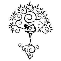 yoga-tree-woman-tattoo | Flickr - Photo Sharing!