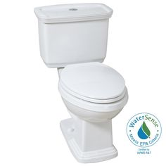 Glacier Bay 2-piece 1.0 GPF/1.28 GPF High Efficiency Dual Flush Elongated Toilet in White-N2430E - The Home Depot
