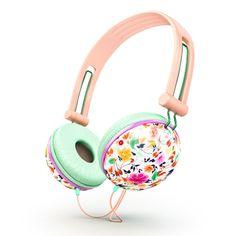 Amazon.com: Ankit Fat Bass Noise Isolating Headphones - Pastel Peach Floral: Electronics