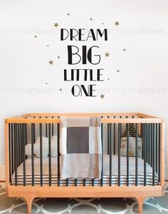 Dream Little One Quote Lettering Wall Decal