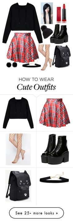 """Outfit #1"" by jocelynraybourn on Polyvore featuring WithChic, Gipsy, Max Factor, Miss Selfridge and Wild & Woolly"