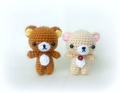 rilakkuma and korilakkuma - belly and nose free pattern