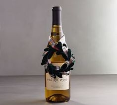 NEW POTTERY BARN TURKEY WINE BOTTLE TOPPER