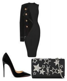 Untitled #279 by karinarapalo on Polyvore featuring polyvore fashion style Yves Saint Laurent Christian Louboutin clothing