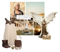 daenerys targaryen by summersdream on Polyvore featuring Miss Selfridge, Maison Margiela, Glamorous, VBH, Fantasy Jewelry Box, ASOS, Wildfox, GameOfThrones, ASongOfIceAndFire and asoiaf