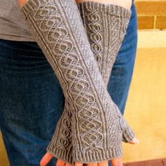 Knit Mitt Pattern Totally Cabled Long от WearableArtEmporium
