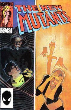 New Mutants # 23 by Bill Sienkiewicz