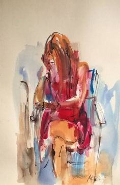 "Saatchi Art Artist Nelina Trubach-Moshnikova; Drawing, ""At pause"" #art"