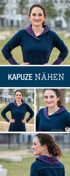 DIY-Anleitung: trendige Kapuze für schicken Pullover nähen, Herbstmode / DIY tutorial: sewing trendy hoody for sweatshirts, fall fashion via DaWanda.com