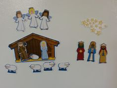 The Adventures of Bear: Easy DIY Magnetic Nativity Set