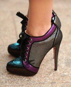 bota corta con combinacion de colores