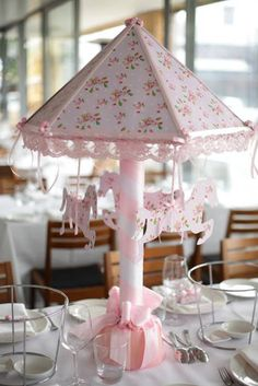 Pink Carousel Themed Christening Party by Le Petit Party Carousel Birthday Parties, Carousel Party, Circus Party, 1st Birthday Girls, Unicorn Birthday, Unicorn Party, 1st Birthday Parties, Christening Party, Christening Themes