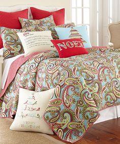 Love this Christmas Joy Quilt Set by Levtex Home on #zulily! #zulilyfinds