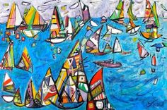 Christy Sverre paints inspiring and unique semi-abstracts. Her art is found in private collections in Canada, United States, Norway, France and Singapore. Nautical Art, Norway, Past, Sailing, Paintings, Canvas, Abstract, Unique, Inspiration