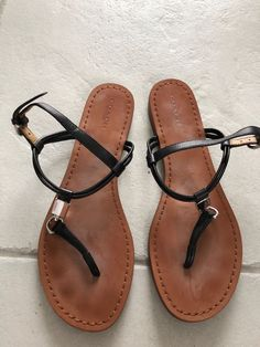 fe829d5a0 COACH Charlene Black Leather Thong Sandal Shoes Sz 8  fashion  clothing   shoes  accessories  womensshoes  sandals (ebay link)