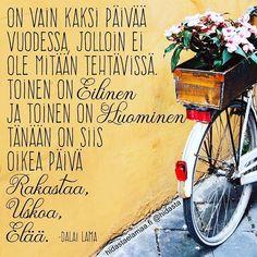 Muistetaan tämä 😍 #nyt #tänään #täydellinenhetki Motivational Quotes, Inspirational Quotes, Just Be You, Dalai Lama, Positive Thoughts, Funny Texts, Wise Words, Life Is Good, Wisdom