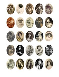 Beautiful Vintage Women Printable Digital Collage by shadowdancer2, $3.00