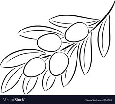 Illustration about Illustration of olive branch contour, isolated. Illustration of nutritious, vector, isolated - 23858656 Branch Vector, Single Image, Coloring Pages, Coloring Sheets, Clip Art, Graphic Design, Drawings, Illustration, Teaching Kindergarten