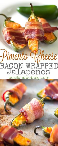 Super easy, 3 ingredient bacon wrapped pimento cheese stuffed jalapenos.  You'll want to make this appetizer for every football game!