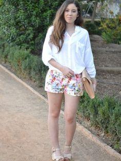 lauramfv Outfit   Verano 2012. Combinar Camisa-Blusa Blanca Stradivarius, Cómo vestirse y combinar según lauramfv el 10-8-2012