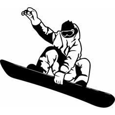 """Наклейка на авто """"Сноубордист. Snowboard версия 10"""""""