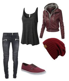"""""""Untitled #164"""" by lynx-lupus on Polyvore featuring Balmain, Vans and LE3NO"""