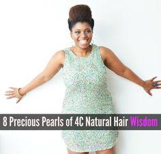 8 Precious Pearls of 4C Natural Hair Wisdom