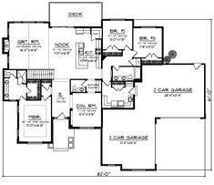 Craftsman House Plan First Floor 051D-0865  from houseplansandmore.com