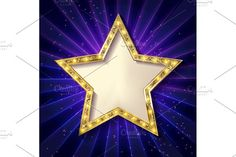 6 Gold stars on a dark background by nastyaaroma on @Graphicsauthor