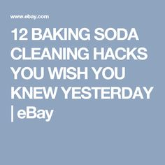 12 BAKING SODA CLEANING HACKS YOU WISH YOU KNEW YESTERDAY | eBay