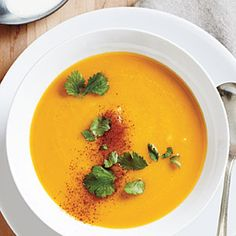 Butternut Soup with Coconut Milk | CookingLight.com #myplate #vegetables