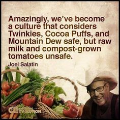 Post with 9 votes and 422 views. Good quote from Joel Salatin Organic Hydroponics, Hydroponic Farming, Aquaponics, Healthy Foods To Eat, Healthy Eating, Real Foods, Joel Salatin, Cognitive Problems, Best Quotes