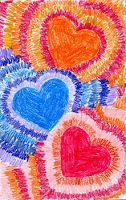 Valentines Crafts and Activities Art Projects for Kids: Radiating Valentine Card