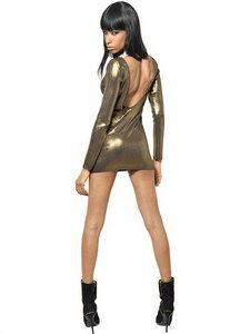 Balmain - Laminated Viscose Knit Dress | FashionJug.com