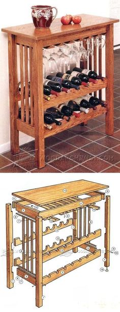Wine Rack Table Plans - Furniture Plans and Projects   WoodArchivist.com