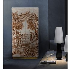 Heritage Cabinet | Hand painted cabinet, Portuguese Art, luxury furniture by Boca do Lobo