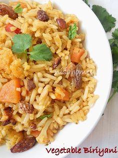 Easy Vegetable Biriyani In Pressure Cooker...from scratch!!