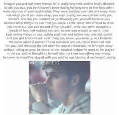 This imagine has left me with tears.  I don't think we are that mean. I would never do that to one of their girlfriends