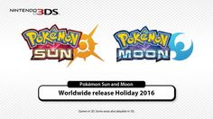 Pokemon Sun and Moon are now confirmed and will be released worldwide this holiday 2016 for the 3DS.