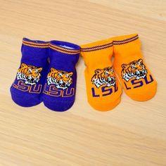 LSU Baby 2 Pack Booties with Grippers
