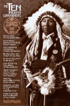 The Ten Indian Commandments Póster