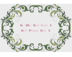 Get Out Counted Cross Stitch Pattern X-Stitch by HornswoggleStore