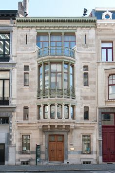 Hotel Tassel, 6, Rue Paul-Emile Jansonstraat, Brussels, Belgium 1893-1894. By Victor Horta. Considered to be the first true Art Nouveau Building because of its highly innovative plan and its ground breaking use of materials and decoration.