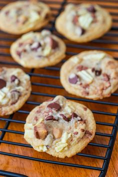 Toffee Potato Chip Chocolate Chip Cookies #silpatcookieparty