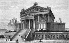 Capitoline Temple reconstructed, Italy Rome ( Capitoline Hill Temple of Jupiter Capitolinus exterior view)