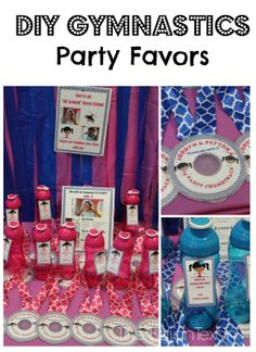 The Bajan Texan: DIY Gymnastics Party Favors: CD Medals and Water Bottles
