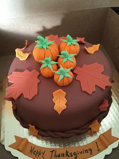 Thanksgiving Fondant Cake Made by: www.arlyscakes.com