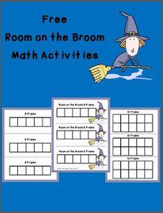 Free Printable Math Activities for Room on the Broom by Julia Donaldson Maths Eyfs, Math Literacy, Teaching Kindergarten, Literacy Activities, Numeracy, Teaching Ideas, Early Years Maths, Early Years Classroom, Julia Donaldson Books