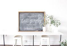 The Hive Studio Calligraphy | Christine Wisnieski Studio